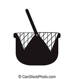 Picnic basket silhouette