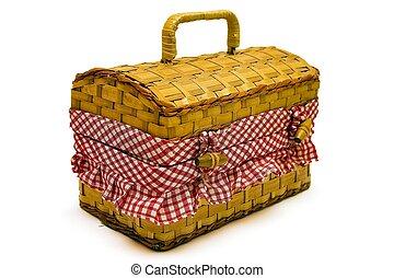Picnic Basket - Isolated picnic basket