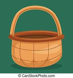 Picnic Basket Vector Illustration