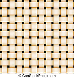 Tan picnic basket-weave texture.