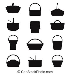 Picnic Baskets Silhouettes