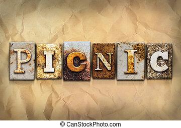 Picnic Concept Rusted Metal Type