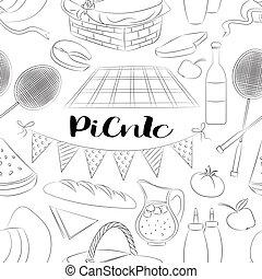 Picnic doodle set