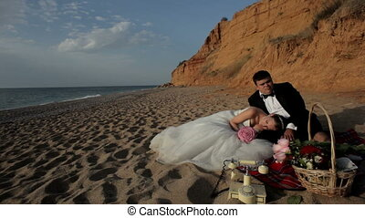 Picnic for the newlyweds