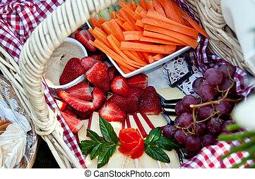 Picnic hamper food
