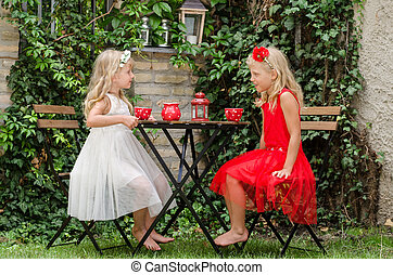 picnic in garden
