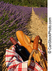 Picnic in the Lavender, Provence, France