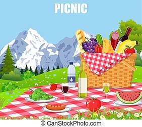 Picnic in the Mountains