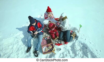 Picnic in winter