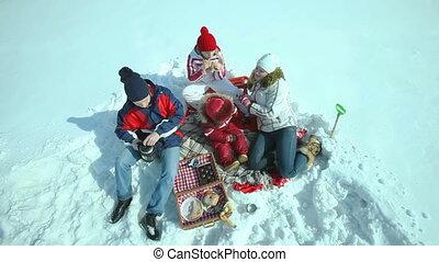 Picnic in winter