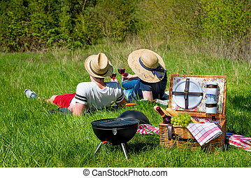 Picnic on a meadow
