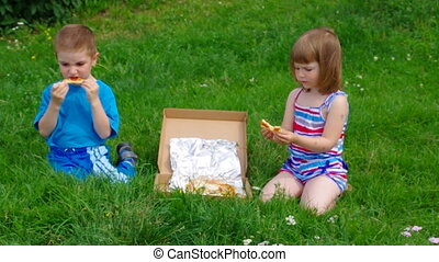Picnic on the grass.