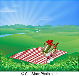 picnic, paisaje