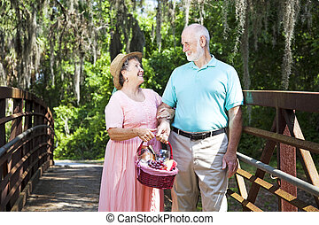 Picnic Seniors on Bridge