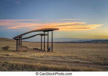 picnic shelter at foothills in northern Colorado - picnic ...