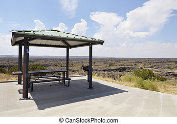 Picnic Shelter - Picnic shelter overlooking wide scenic ...