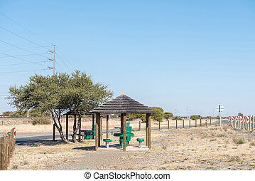 Picnic spot next to the N12 road
