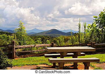 Picnic Table at Overlook