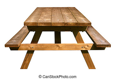 Picnic Table Front View
