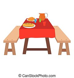 Picnic table Illustrations and Clipart. 5,131 Picnic table ...