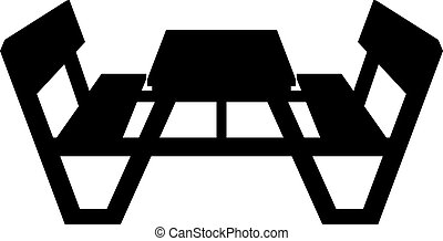 picnic table cartoon illustration showing a typical wooden picnic and camping table. Black Bedroom Furniture Sets. Home Design Ideas