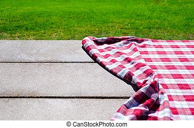 picnic, tovaglia, tavola