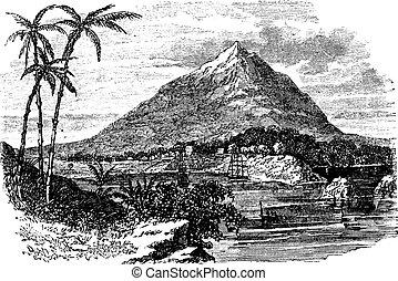 Pico Basile in Bioko Island, Republic of Equatorial Guinea,...