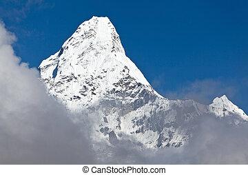 pico de la montaña, ama, dablam