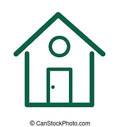picto maison, stock vector illustration