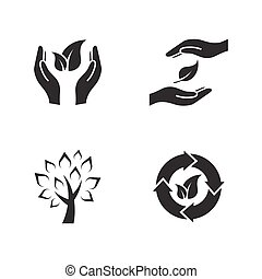 pictografías, de, eco