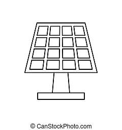 pictograh, 太陽エネルギー, 生態学的, きれいにしなさい, パネル