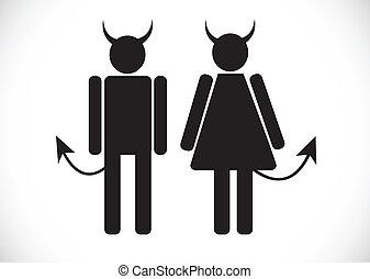 pictogram , διάβολοs , εικόνα , σύμβολο , σήμα