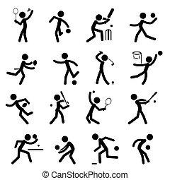 pictogram, スポーツ, セット, 01, アイコン