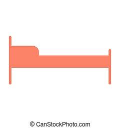 pictogram, 単純である, ホテル, ベッド, 96x96, ベクトル, icon., 最小である