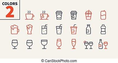 pictogram, 単純である, 24x24, stroke., 準備ができた, 飲み物, 完全, 網, 48x48, アイコン, apps, well-crafted, ピクセル, 最小である, 食物, 1-2, editable, 部分, 格子, グラフィックス, 線, ベクトル, ui, 薄くなりなさい