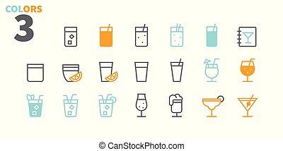 pictogram, 単純である, 24x24, stroke., 準備ができた, 飲み物, 完全, 網, 48x48, アイコン, apps, well-crafted, ピクセル, 最小である, 2-2, 食物, editable, 部分, 格子, グラフィックス, 線, ベクトル, ui, 薄くなりなさい