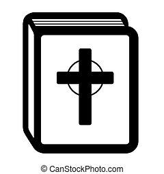 pictogram, 聖書, 本, 神聖, アイコン