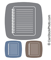 pictogram, aantekenboekje