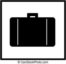 pictogram, aktentas