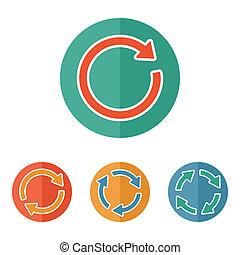 pictogram., aláír, reload, felfrissít, nyíl, forgás, bukfenc