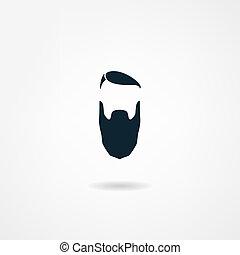 pictogram, baard
