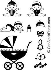 pictogram, baby, set