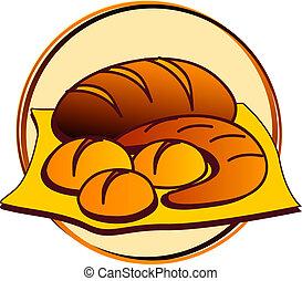 pictogram - bakery - bread, roll