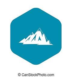 pictogram, bergen, stijl, eenvoudig, canadees