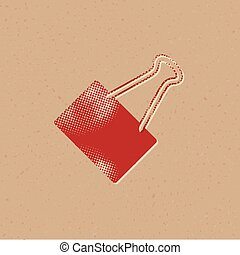 pictogram, -, binder, halftone, klem