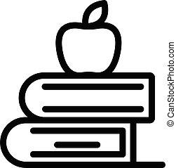 pictogram, boekjes , schets, appel, stijl