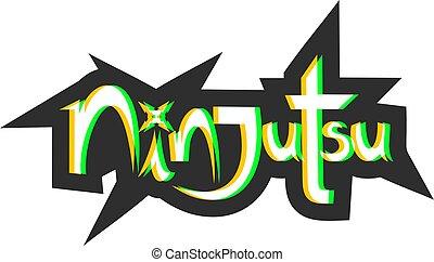 pictogram, boodschap, ninjutsu, verbeeldingsvol