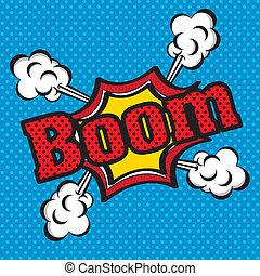 """pictogram, """"boom"""", komieken"""