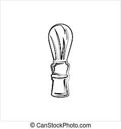 pictogram, borstel, het scheren