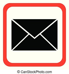 pictogram, brief, op wit, background.vector, illustration.